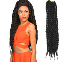 Wholesale 18 quot Three Havana MAMBO TWIST foreign trade and selling African black braids dirty braid wigs