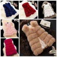 Wholesale Fashion new Women s Warm Outwear Slim Vest Faux Fox Fur Winter Sleeves Waistcoat Jacket Coat