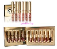 ab sets - In stock AB Hot High quality Kylie Lord Metal Gold THE LIMITED EDITION KYLIE BIRTHDAY COLLECTION Kylie Cosmetics lip gloss kit set