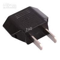 Wholesale EU to US Power Plug Converter Adapter Black