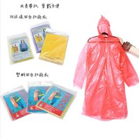 Wholesale The disposable raincoat thickening Outdoor climbing raincoat poncho tourism drift disposable raincoat concert activity freeshipping