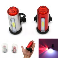 Wholesale Aluminum COB USB Rechargeable Cycling Bicycle Tail Light Taillight Waterproof LED Safety Bike Rear Seat Light Lamp Bycicle