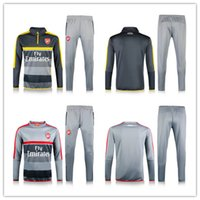 arsenal match - 2017 Arsenal Sweatshirt Long Sleeve Red sweater Match Gray Pants Soccer Jersey Arsenal soccerTracksuit Set Alexis Soccer Training Suit