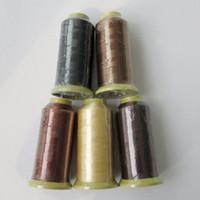 achat en gros de couleurs de fil à coudre-Nylon tissage de cheveux fil fil à coudre pour le tissage de cheveux professionnel outils extensions de cheveux plus de couleurs en option