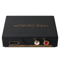 Wholesale Familymall TM CH HDMI Audio Extractor Audio Splitter Konverter HDMI zu HDMI SPDIF RCA L R mit HDMI Audio Output RCA Analog