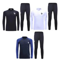 Wholesale French training suit Euro Cup maillot de foot French national football training wear long sleeved tracksuit football jacket pants