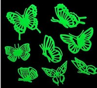 Wholesale Children bedroom stereoscopic wall post ACTS the role of fashion cartoon butterfly luminous strips Wall Decor