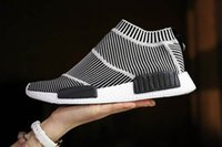 authentic canvas - Drop Shipping Authentic Original NMD CS1 City Sock Glow Primeknit S79150 Core Black Boost Women Men s Sports Running Shoes Size