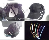 Wholesale Roadway safety flashing LED light up cap Flexible Lightweight Visible Super Hight light LO