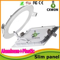 Wholesale Round panel light thin W W W W W W LED Ceiling Recessed Downlight Slim Round Flat Panel Light square led panel lights