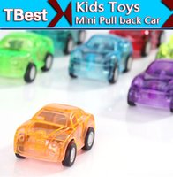 Wholesale Lovely Transparent Mini Pull back Car Toys Children toys Plastic Cute Car Toy Birthday Xmas Gifts