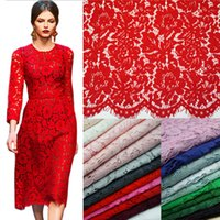 Wholesale Red Eyelash Lace Fabric m m Cord Lace Fabric High Quality Multicolor African Guipure Lace Fabric DIY for Party Wedding Dress Fabric