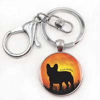 american silhouette - 1pcs Bulldog Logo Pendant Necklace Hot Sale Bulldog Art Necklace Resin Pendant French Bulldog Silhouette Jewelry