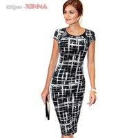 Wholesale New Fashion Women s Spring Summer Printed Synthetic Leather Wear to Work Office Business Casual Pencil Dress Vestidos