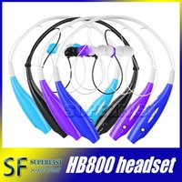 Wholesale HB800 Neckband Headphone HB Sports Headphones Stereo Headset Earphone HB800 earphones for iphone with Retail Package Opp Package