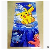 Robes Unisex Cotton Pikachu Bath Towel 72*146cm Beach Towels for Adults Kids Baby Christmas Bathroom Swimming Newest Towel Christmas Gift Free Shipping