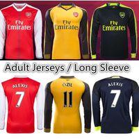 Wholesale Arsenal Soccer Jerseys long sleeve football shirts ALEXIS WILSHERE GIROUD CHAMBERS OZIL ET