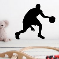 basketball party games - Boy Plays Basketball home decals wall stickers for kids rooms decorationfan ball toy boy friends gifts sport games party supply