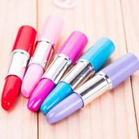 Wholesale 20pcs New Fashion Lipstick Shape Ballpoint Pens Gel Pens Signing Pen Writing Supplies Children Prize Gifts Material Escolar
