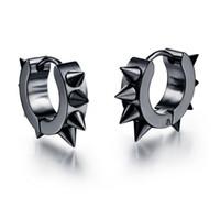 Wholesale New Arrival Personality Men Jewelry Rivet Earrings Punk Rock Style L Stainless Steel Hoop Earing Hot Sale SE022