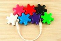 Wholesale dhl High quality way Multi Headphone Splitter mm audio cable earphone splitter adapter