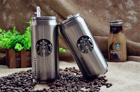 beverages coffee - Starbucks coffee cup stainless steel warm cup creative beverage can men women girl boy water glass OOA141