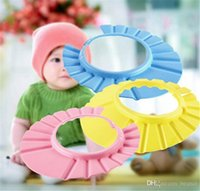 Wholesale Safe Shampoo Shower Bathing Bath Protect Soft Cap Hat For Baby Children Kids Soft EVA protect your baby