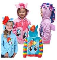 Wholesale styles Kids outerwear My little pony Sweater hoodies sportswear boys girls Cartoon Hooded coat clothes hoody jacket LA252