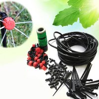 Wholesale New m DIY Micro Plant Drip Watering System Adjustable Flow Irrigation Drippers Automatic Timer Gardening Irrigation Hose Kits JR0028