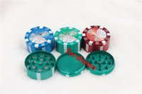 big hand poker - 6pcs USA mm big size Smoking Pipe Accessories Metal Three Layers Poker Style Herb cigarette Tobacco Grinder Hand Muller