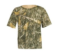 Wholesale Hot Sale OFF Men s Pure Cotton Realtree Max Camouflage Hunting T Shirt Camo Shirts Camouflage Fishing Camo T shirt Clothes Camo Wear