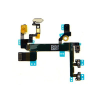 Wholesale New Grade A Power Mute Volume Button Switch Connector Flex Cable Ribbon iphone S Power Flex Cable Mute Switch Volume Buttons