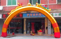 Wholesale Factory direct inflatable arch opening wedding arches golden m