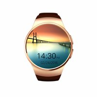 Wholesale KW18 Smart Watch Bluetooth Reloj Inteligente smartwatches with SIM Round Heart Rate Monitor for apple android iOS phone pk gt08