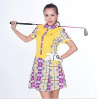 Wholesale 2016 hot selling women short golf plaid shirts cotton golf clothing sportwear skirt Golf shorts golf dress S XXXL