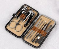 Wholesale Health Beauty Manicure Set in Stainless Steel Nail Cutter Scissor Grooming Nail Art Care Tool Earpick boxes from Lomefo