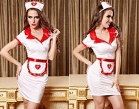 adult doctor costumes - Adult Women Sexy White Red Angel Doctor Nurse Uniform Erotic Office Hospital Games Cosplay Fetish Maid Lingerie