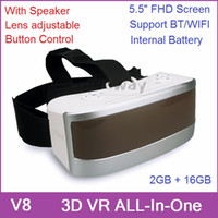 in one pc - 3D VR All In One Headset Virtual Reality Glasses PC Game Android GB GB With FHD Screen Wifi BT Gyro