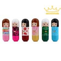 Wholesale 1pc Lovely Kimono doll Brand Makeup Lipstick Women Beauty Professional Cosmetic Lipstick Makeup lipgloss Hot Selling New