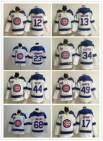 Wholesale Chicago Cubs Kyle Schwarber Starlin Castro Jon Lester Jorge Soler Men Baseball Hoodie Hooded Sweatshirt Jackets M XL