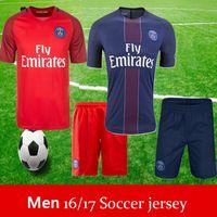 Wholesale Paris soccer jersey Lucas BEN ARFA DI MARIA Soccer Jersey Blue Home white red away kit Jerseys
