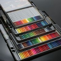 Wholesale Art Colored Pencils watercolor Set with Metal Case Assorted Colors Drawing Pencils for Sketch Secret Garden colors