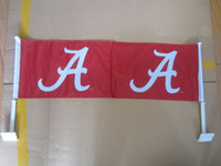 Wholesale Alabama Crimson Tide Sided Roll Tide Double Sided Car Flag quot X quot