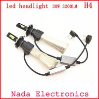 Wholesale 2Pcs w LED Headlight H4 Hi Lo Auto LED Headlight Bulb H4 Head Lamp LM White Color K LED Headlight Lamp