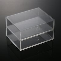 Wholesale Stock Anti Scratch Clear Acrylic Drawers Makeup Organizer Storage Box Cosmetic Holder Display Case High Quality