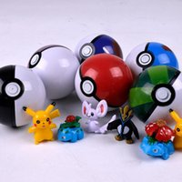 abs fun - 7cm Pokeball ABS Toys Cosplay Poke Ball Super Master Ball Fun Toys Plastic Pop up Action Figures Toys Best Gift For Children PPA423