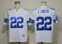 Wholesale classic american football jersey E SMITH legends men jerseys adult shirts throwback shirt vintage tops retro top blue white