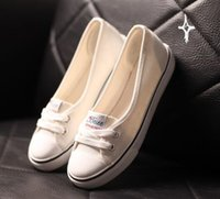 the packaging of shoes - The package Youbei shallow mouth of spring and summer canvas shoes female s casual shoes set foot flat cloth shoes shoes white students