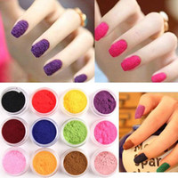 Wholesale Hot Sell Velvet Flocking Powder Velvet Manicure Nail Art Polish Tips Nail Tools