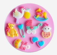 baby foot mold - Mini New Style Baby Little feet etc silicone handmade fondant cake decorating DIY mold